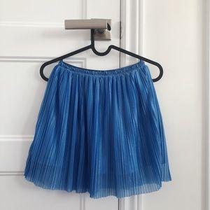 Girls Blue Shimmer Skirt